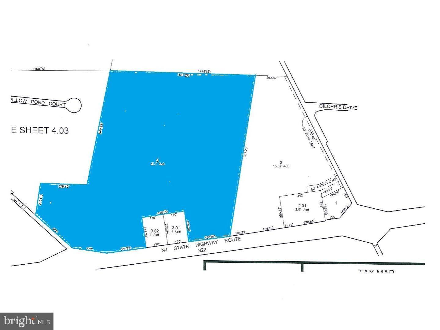 3. Land for Sale at 2057 ROUTE 322 Woolwich Township, New Jersey 08085 United States