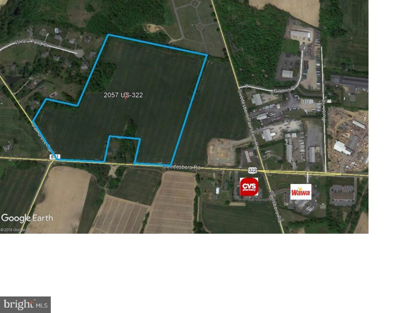 Land for Sale at 2057 ROUTE 322 Woolwich Township, New Jersey 08085 United States