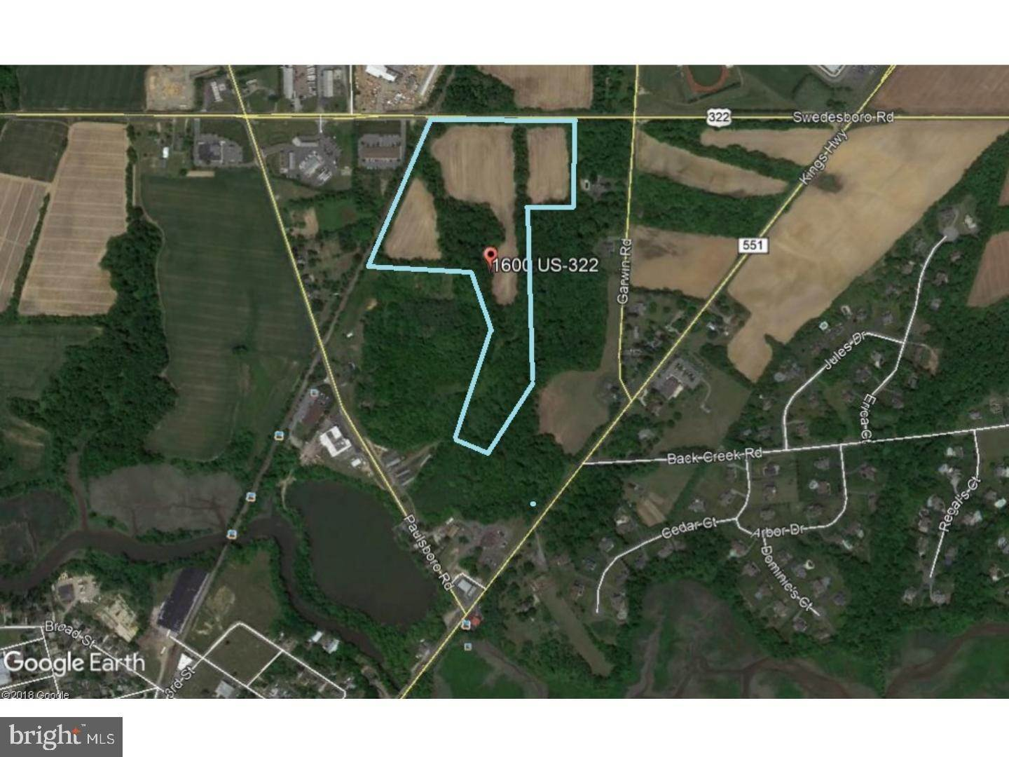 Land for Sale at 1600 ROUTE 322 Woolwich Township, New Jersey 08085 United States