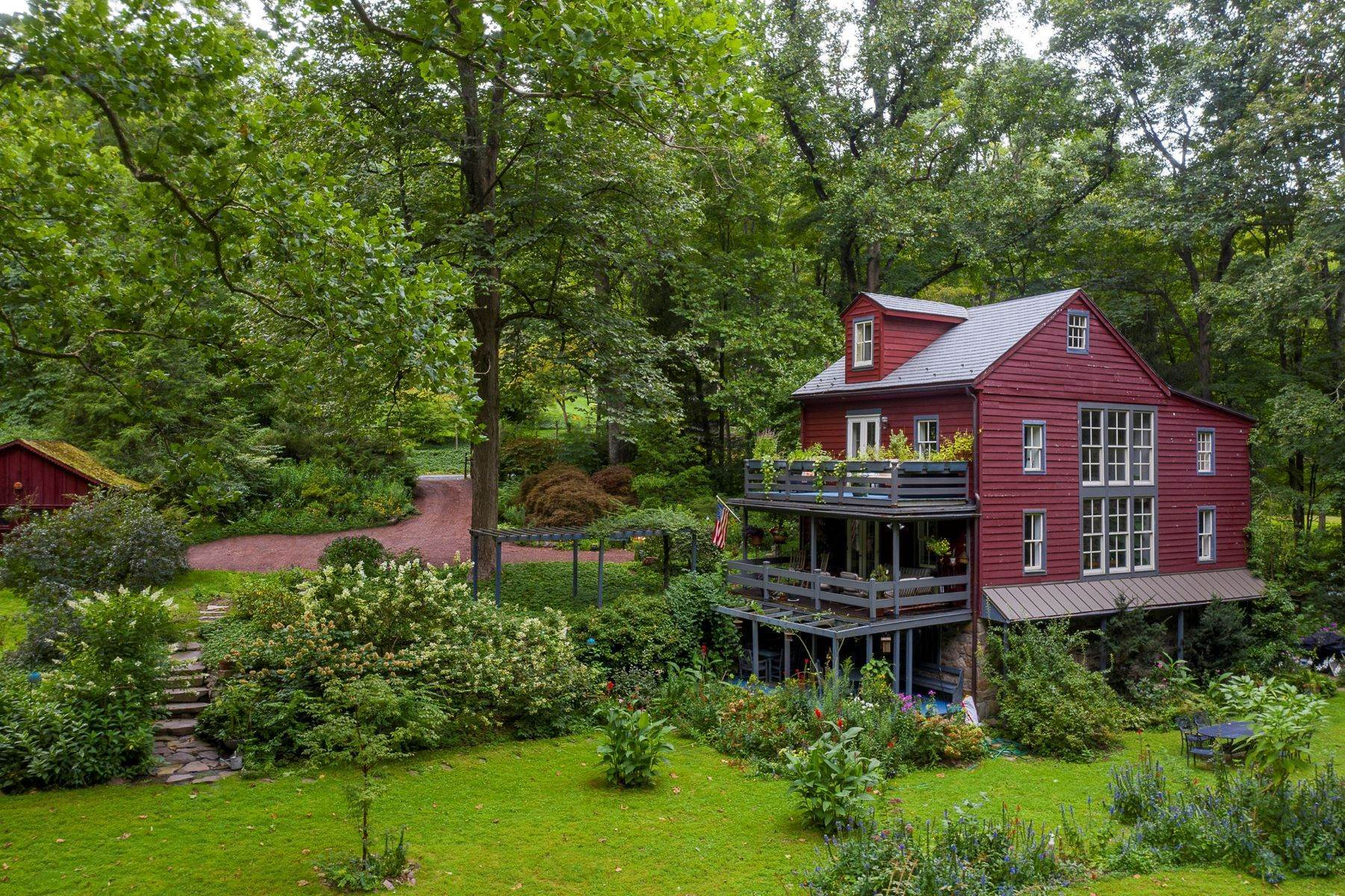 Single Family Homes for Sale at The Mill House 6444 FLEECYDALE RD New Hope, Pennsylvania 18938 United States