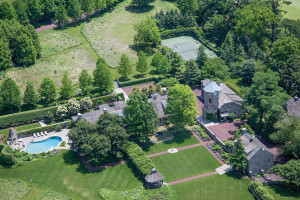 An aerial view of the Albermarle estate